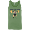 T-Shirts Leaf Green / X-Small Will Lift For Carbs (Pizza Man) Tank Top