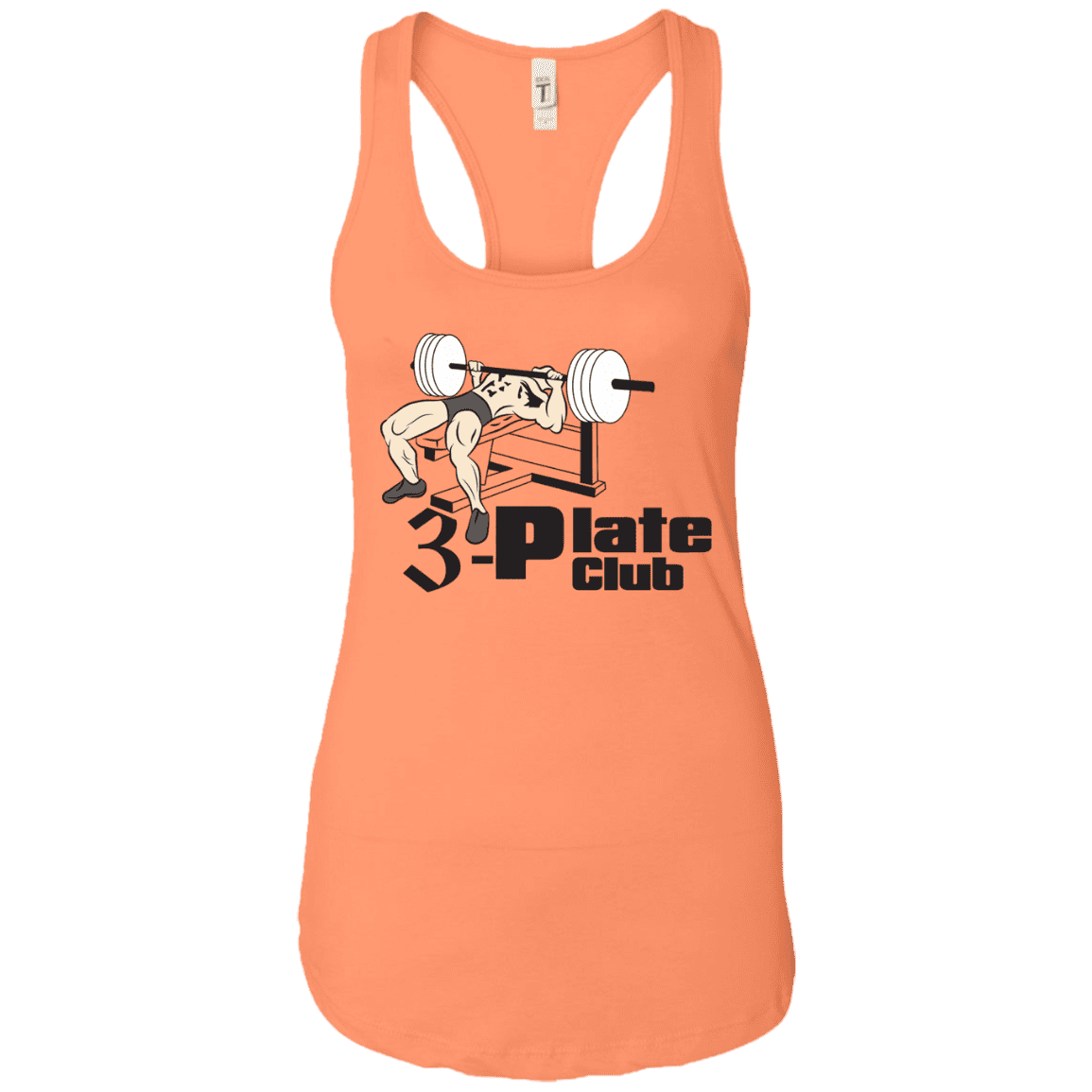 T-Shirts Light Orange / X-Small 3-Plate Club Racerback Tank