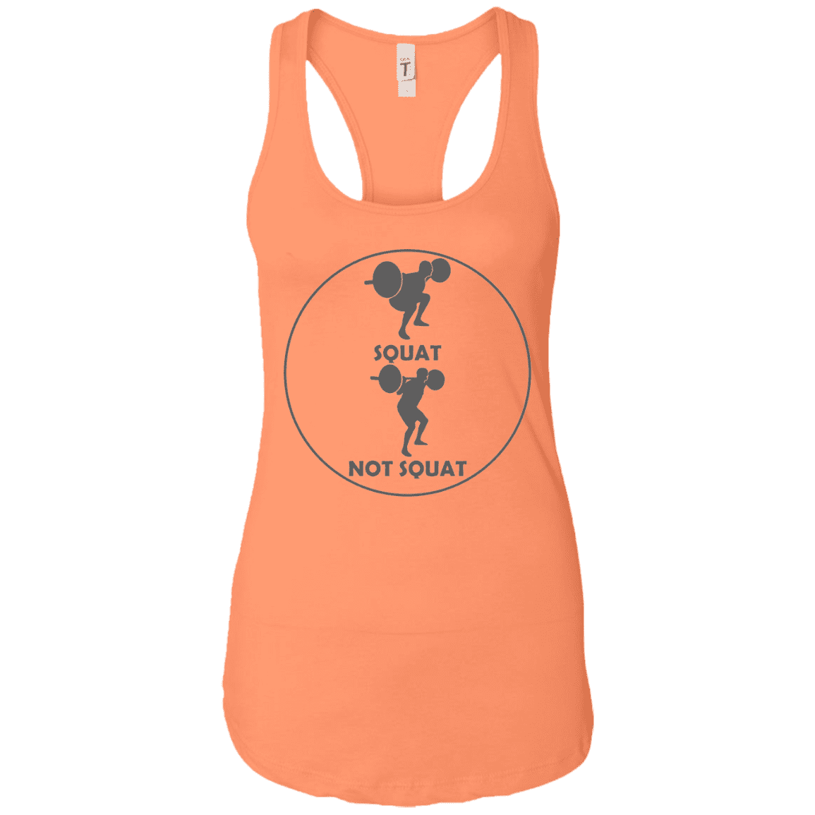 T-Shirts Light Orange / X-Small Full Depth Racerback Tank