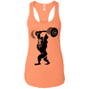 T-Shirts Light Orange / X-Small Gorilla Press Racerback Tank