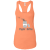 T-Shirts Light Orange / X-Small Poppin' Bottles Racerback Tank