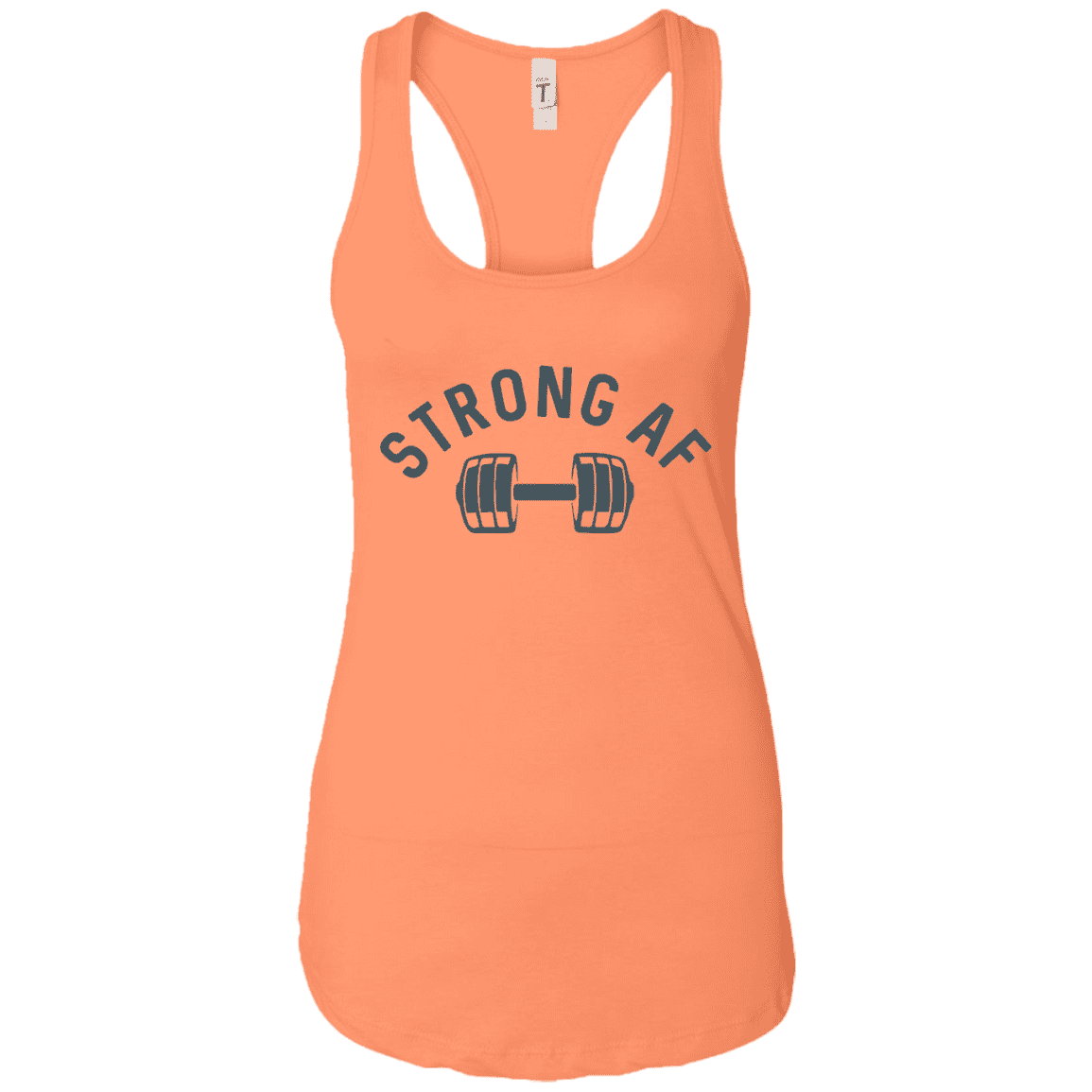 T-Shirts Light Orange / X-Small Racerback Tank