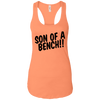 T-Shirts Light Orange / X-Small Son Of A Bench!! Racerback Tank
