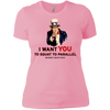 T-Shirts Light Pink / X-Small Uncle Sam Women's Extra Comfort Tee