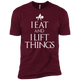 "T-Shirts Maroon / X-Small ""I Eat And I Lift Things"" Men's Extra Comfort Tee"
