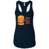 T-Shirts Midnight Navy / X-Small Anatomy Of A Burger Racerback Tank