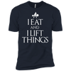 "T-Shirts Midnight Navy / X-Small ""I Eat And I Lift Things"" Men's Extra Comfort Tee"