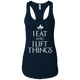 "T-Shirts Midnight Navy / X-Small ""I Eat And I Lift Things"" Women's Racerback Tank"