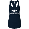 T-Shirts Midnight Navy / X-Small Just Squat It. Racerback Tank