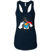 T-Shirts Midnight Navy / X-Small SuperRilla Women's Racerback Tank
