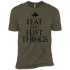 "T-Shirts Military Green / X-Small ""I Eat And I Lift Things"" Men's Extra Comfort Tee"