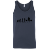 T-Shirts Navy / X-Small Evolution Tank Top