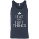 "T-Shirts Navy / X-Small ""I Eat And I Lift Things"" Tank Top"