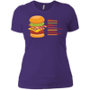 T-Shirts Purple / X-Small Anatomy Of A Burger Women's XC Tee