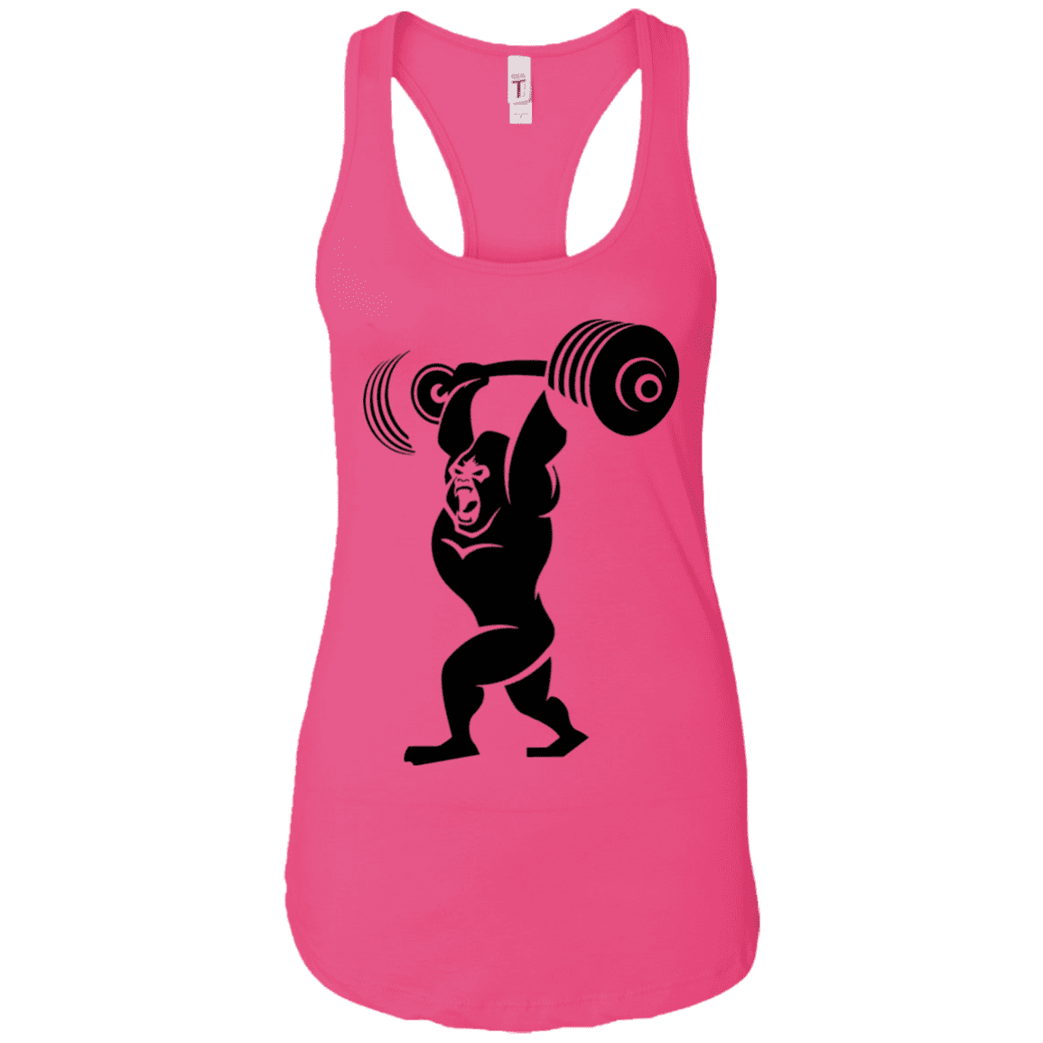 T-Shirts Raspberry / X-Small Gorilla Press Racerback Tank