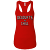 T-Shirts Red / X-Small Deadlifts And Chill Racerback Tank