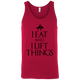 "T-Shirts Red / X-Small ""I Eat And I Lift Things"" Tank Top"