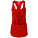 "T-Shirts Red / X-Small ""I Eat And I Lift Things"" Women's Racerback Tank"