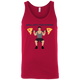 T-Shirts Red / X-Small Will Lift For Carbs (Pizza Man) Tank Top