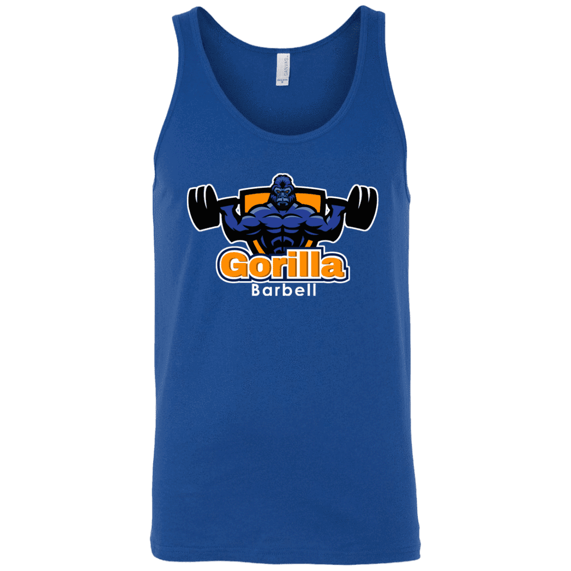 T-Shirts Royal Blue / X-Small Gorilla Barbell Tank Top