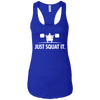 T-Shirts Royal Blue / X-Small Just Squat It. Racerback Tank