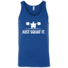 T-Shirts Royal Blue / X-Small Just Squat It. Tank Top