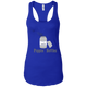 T-Shirts Royal Blue / X-Small Poppin' Bottles Racerback Tank