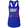 T-Shirts Royal Blue / X-Small Squat Bench Deadlift Racerback Tank