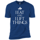 "T-Shirts Royal / X-Small ""I Eat And I Lift Things"" Men's Extra Comfort Tee"