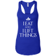 "T-Shirts Royal / X-Small ""I Eat And I Lift Things"" Women's Racerback Tank"
