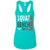 T-Shirts Tahiti Blue / X-Small Squat Bench Deadlift Racerback Tank