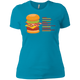 T-Shirts Turquoise / X-Small Anatomy Of A Burger Women's XC Tee