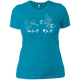 T-Shirts Turquoise / X-Small Grip And Rip Women's XC Tee