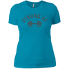 T-Shirts Turquoise / X-Small Strong AF Women's XC Tee