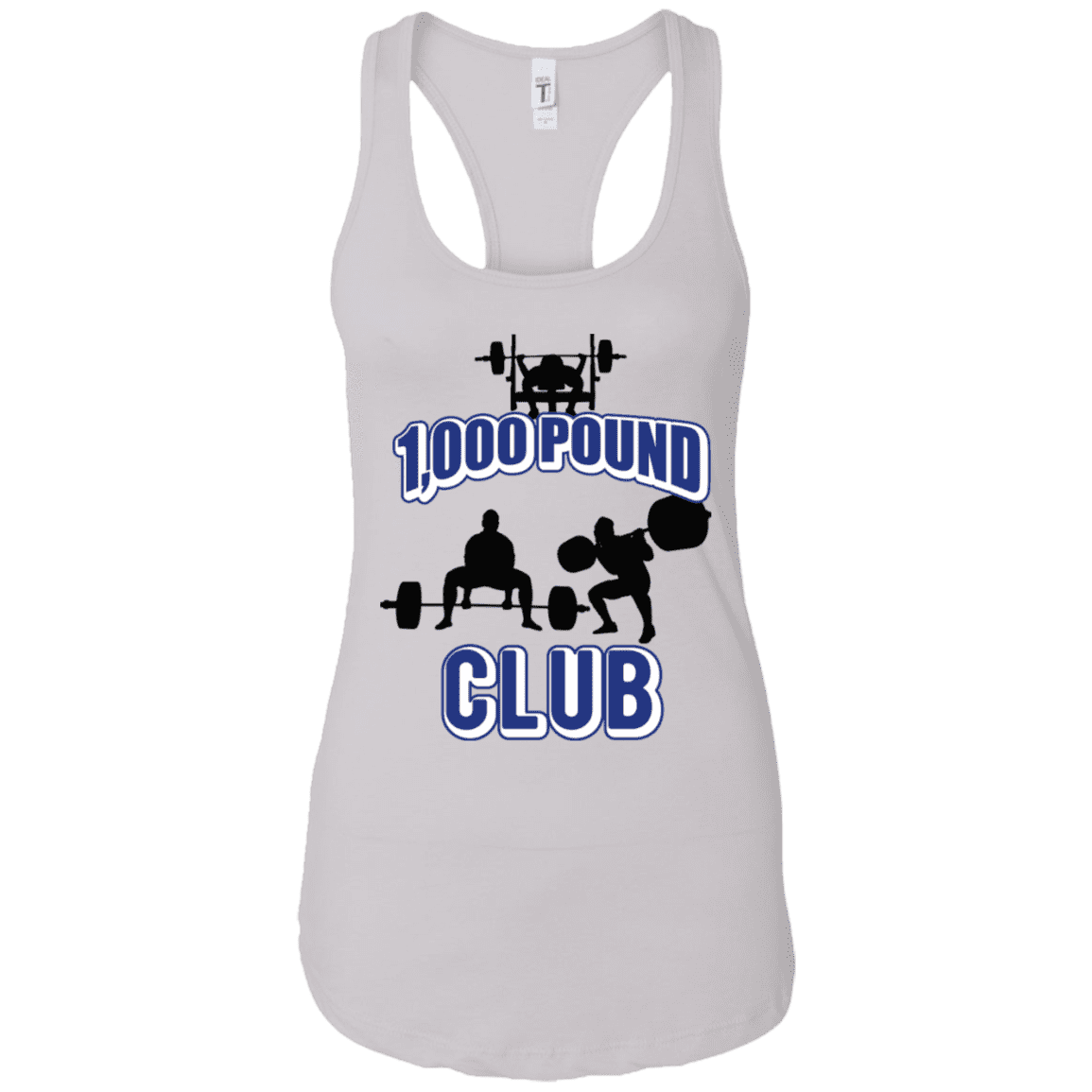 T-Shirts White / X-Small 1,000 Pound Club Racerback Tank