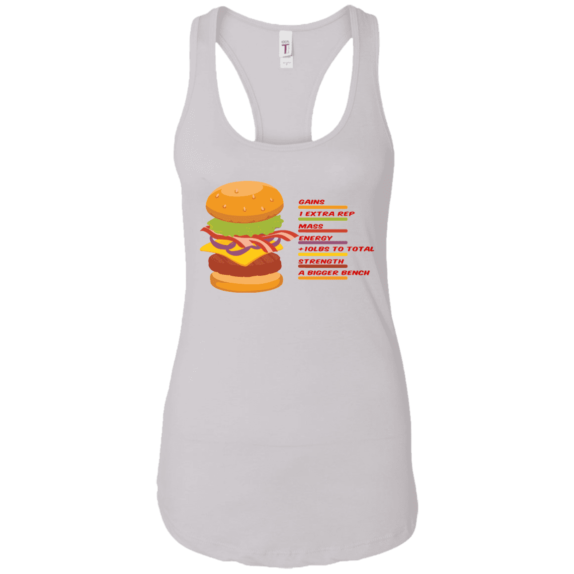 T-Shirts White / X-Small Anatomy Of A Burger Racerback Tank