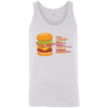 T-Shirts White / X-Small Anatomy Of A Burger Tank Top