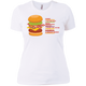 T-Shirts White / X-Small Anatomy Of A Burger Women's XC Tee