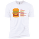 T-Shirts White / X-Small Anatomy Of A Burger XC Tee