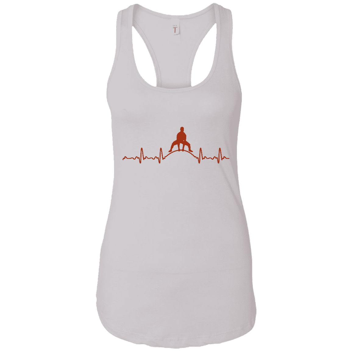 T-Shirts White / X-Small Heartbeat Racerback Tank