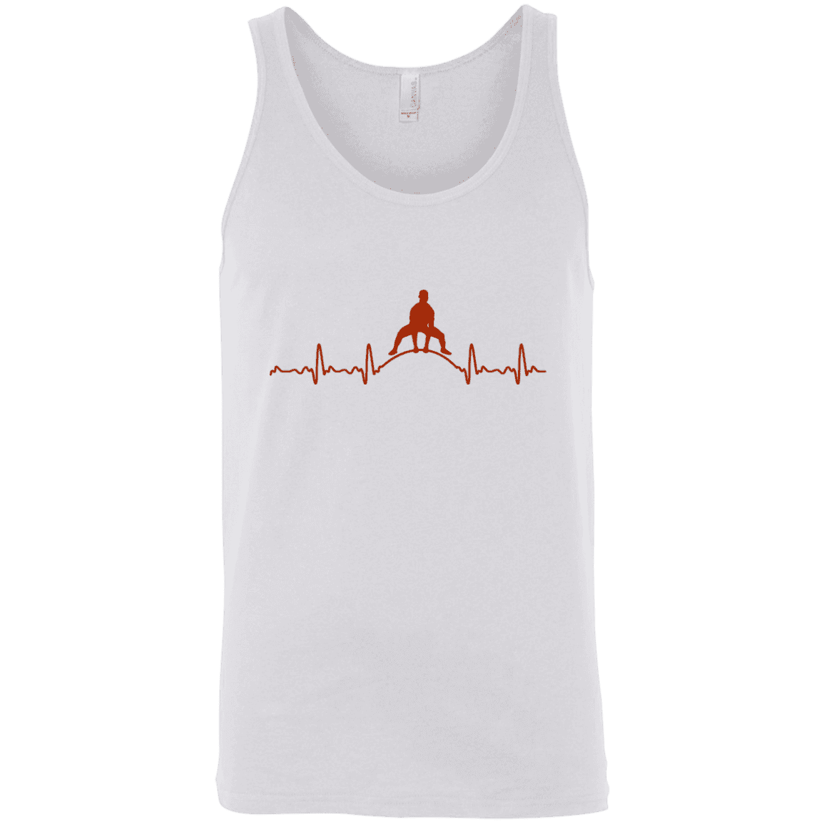 T-Shirts White / X-Small Heartbeat Tank Top