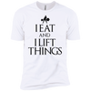 "T-Shirts White / X-Small ""I Eat And I Lift Things"" Men's Extra Comfort Tee"