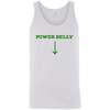 T-Shirts White / X-Small Power Belly Tank Top