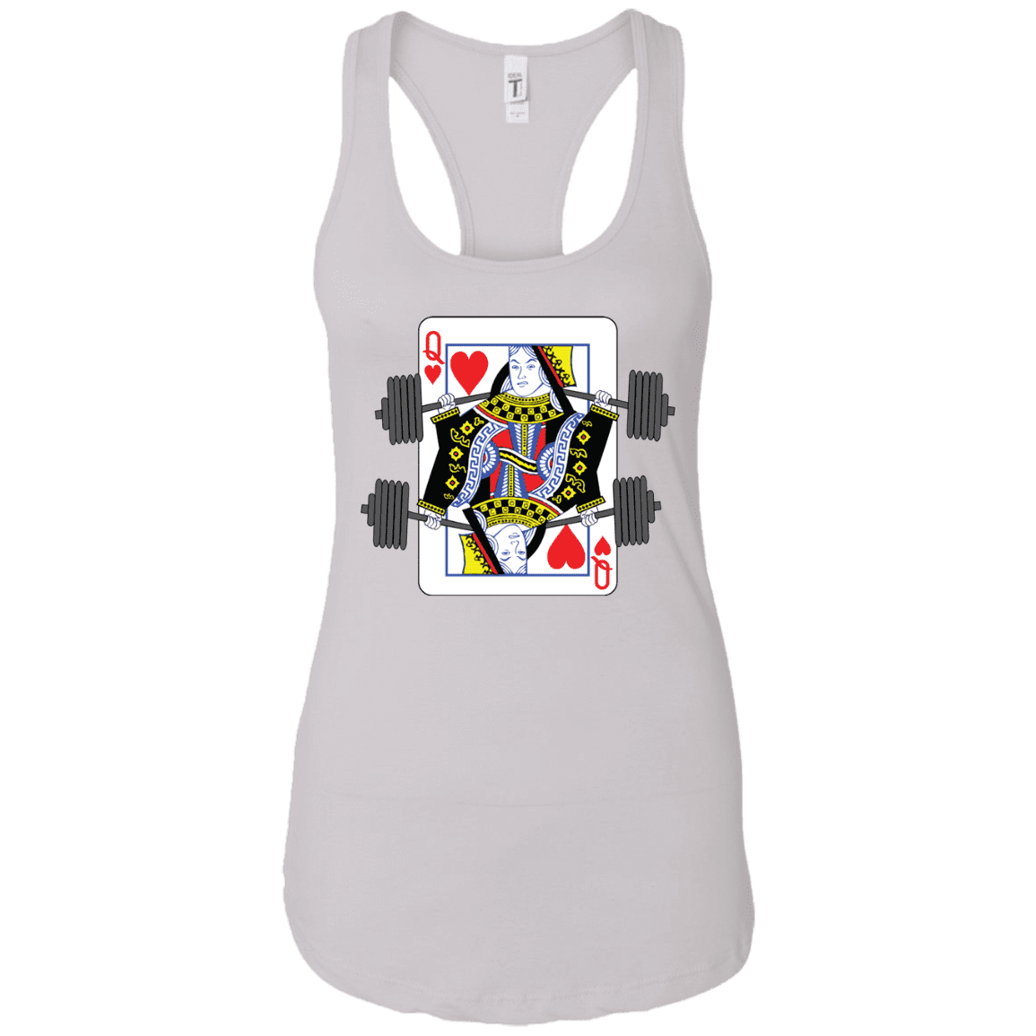 T-Shirts White / X-Small Queen Of Squats Racerback Tank
