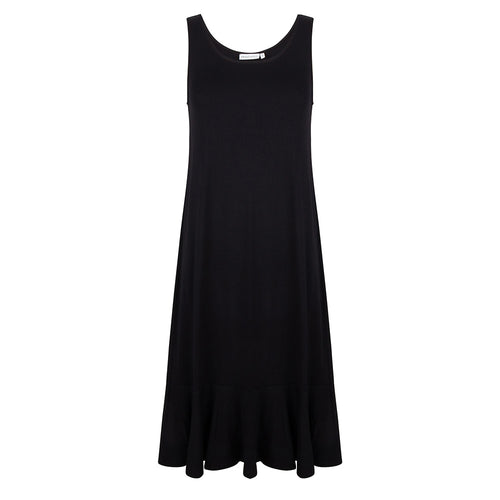 About Jackie - Sleeveless dress volante