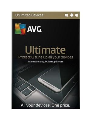 AVG Ultimate Protection - AVG's Most Poweful Software - Latest Edition (1 Year - UNLIMITED Devices)