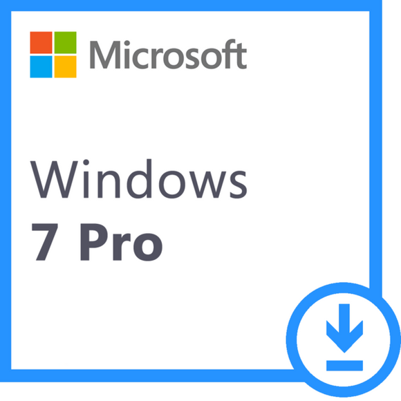 Microsoft Windows 7 Professional  - 32 / 64 bit - Download & License