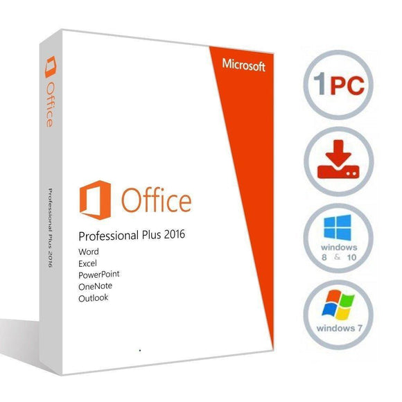 Microsoft Office 2016 Professional Plus - 1 PC Lifetime Activation (Windows)