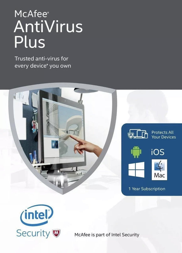 McAfee Antivirus Plus 2019 - 1 Year UNLIMITED Devices