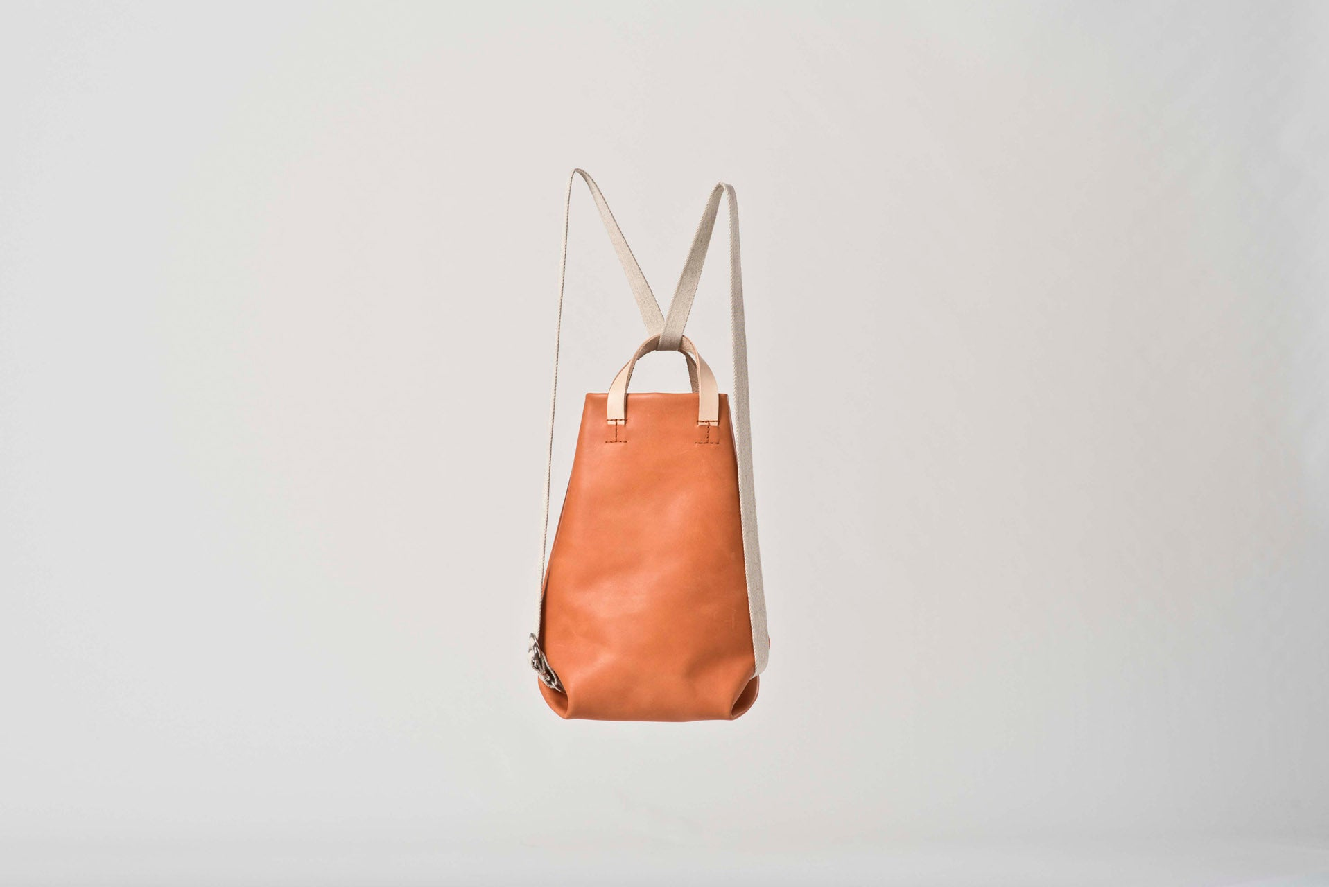 BABY MOIRÉ cognac leather